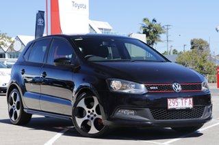 2013 Volkswagen Polo 6R MY13.5 GTI DSG Black 7 Speed Sports Automatic Dual Clutch Hatchback.