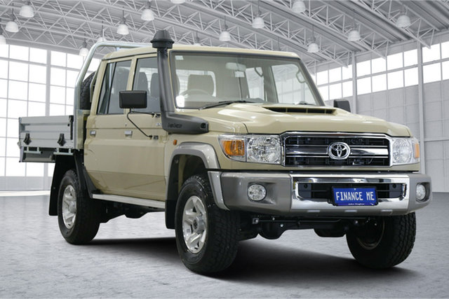 Used Toyota Landcruiser VDJ79R GXL Double Cab Victoria Park, 2021 Toyota Landcruiser VDJ79R GXL Double Cab Sandy Taupe 5 Speed Manual Cab Chassis