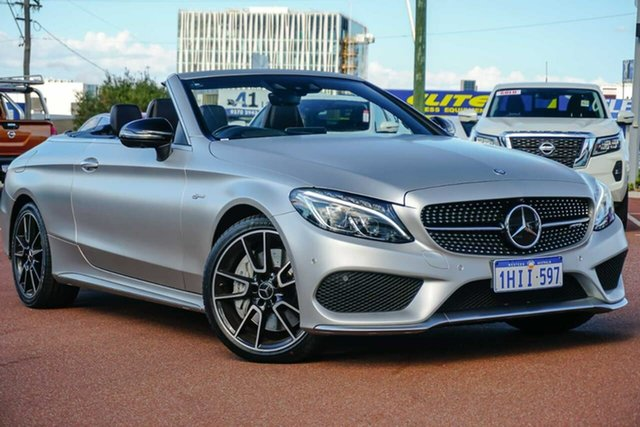 Used Mercedes-Benz C-Class A205 C43 AMG 9G-Tronic 4MATIC Osborne Park, 2016 Mercedes-Benz C-Class A205 C43 AMG 9G-Tronic 4MATIC White 9 Speed Sports Automatic Cabriolet