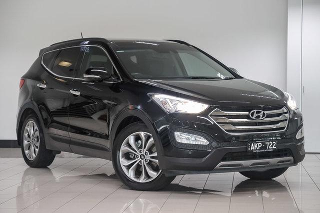 Used Hyundai Santa Fe DM2 MY15 Highlander , 2015 Hyundai Santa Fe DM2 MY15 Highlander Black 6 Speed Sports Automatic Wagon