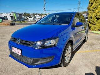 2013 Volkswagen Polo 6R MY14 Trendline DSG Blue 7 Speed Sports Automatic Dual Clutch Hatchback