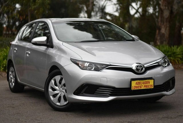 Used Toyota Corolla ZRE182R Ascent S-CVT Enfield, 2017 Toyota Corolla ZRE182R Ascent S-CVT Silver 7 Speed Constant Variable Hatchback