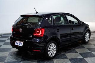 2016 Volkswagen Polo 6R MY16 81TSI DSG Comfortline Black 7 Speed Sports Automatic Dual Clutch