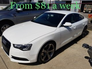 2013 Audi A5 8T MY13 Sportback Multitronic White 8 Speed Constant Variable Hatchback.