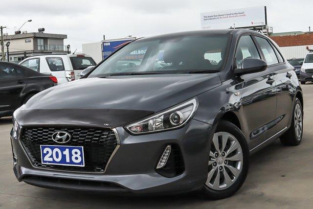 Used Hyundai i30 PD MY18 Go D-CT Coburg North, 2018 Hyundai i30 PD MY18 Go D-CT Grey 7 Speed Sports Automatic Dual Clutch Hatchback