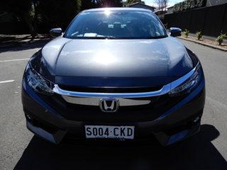 2018 Honda Civic 10th Gen MY18 VTi-LX Grey 1 Speed Constant Variable Sedan.