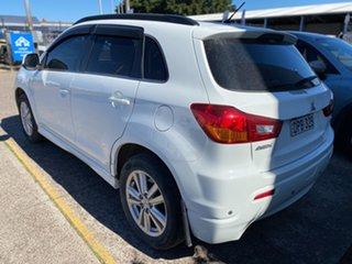 2011 Mitsubishi ASX XA MY11 Aspire White 6 Speed Constant Variable Wagon.