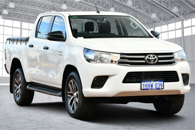 Used Toyota Hilux GUN126R SR Double Cab Victoria Park, 2017 Toyota Hilux GUN126R SR Double Cab White 6 Speed Sports Automatic Utility