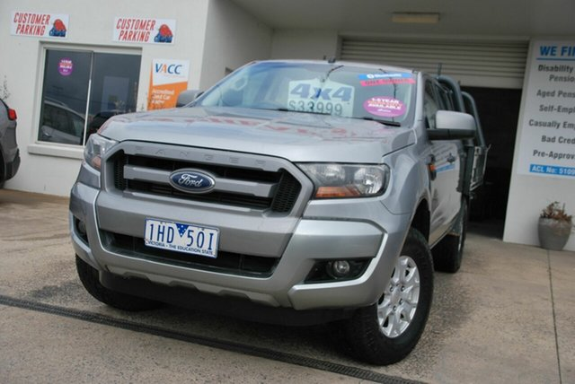 Used Ford Ranger PX MkII MY17 XLS 3.2 (4x4) Wendouree, 2016 Ford Ranger PX MkII MY17 XLS 3.2 (4x4) Silver 6 Speed Automatic Double Cab Pick Up