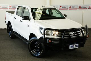 2018 Toyota Hilux GUN126R MY17 SR (4x4) Glacier White 6 Speed Manual Dual Cab Utility.