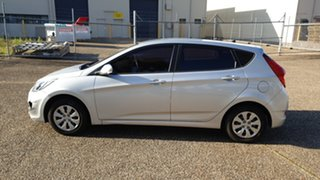 2015 Hyundai Accent RB3 MY16 Active Silver 6 Speed CVT Auto Sequential Hatchback