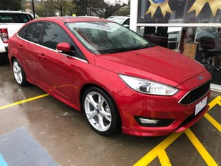 2017 Ford Focus LZ Titanium Red 6 Speed Automatic Sedan.
