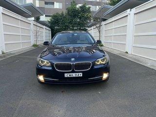 2011 BMW 5 Series F10 520d Steptronic Blue 8 Speed Sports Automatic Sedan.