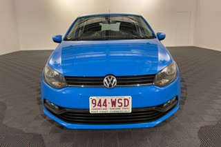 2016 Volkswagen Polo 6R MY16 66TSI DSG Trendline Blue 7 speed Automatic Hatchback.
