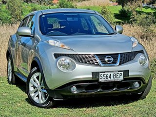 2013 Nissan Juke F15 MY14 ST 2WD Silver 1 Speed Constant Variable Hatchback.