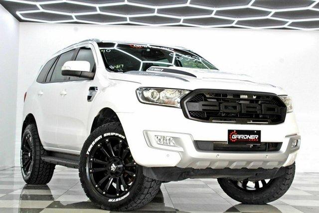 Used Ford Everest UA MY18 Trend (RWD) (5 Yr) Burleigh Heads, 2018 Ford Everest UA MY18 Trend (RWD) (5 Yr) White 6 Speed Automatic SUV