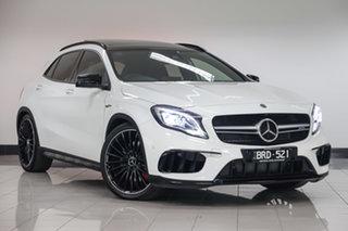 2018 Mercedes-Benz GLA-Class X156 809MY GLA45 AMG SPEEDSHIFT DCT 4MATIC Polar White 7 Speed.