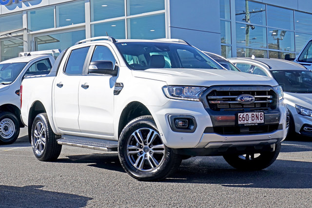 Used Ford Ranger PX MkIII 2021.25MY Wildtrak Springwood, 2021 Ford Ranger PX MkIII 2021.25MY Wildtrak White 10 Speed Sports Automatic Double Cab Pick Up