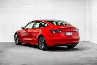 2021 Tesla Model 3 MY21 Standard Range Plus Red 1 Speed Reduction Gear Sedan.