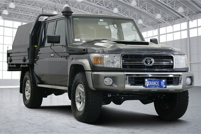 Used Toyota Landcruiser VDJ79R GXL Double Cab Victoria Park, 2020 Toyota Landcruiser VDJ79R GXL Double Cab Graphite 5 Speed Manual Cab Chassis