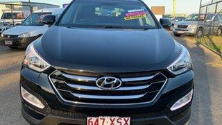 2015 Hyundai Santa Fe DM MY15 Elite CRDi (4x4) Black 6 Speed Automatic Wagon.