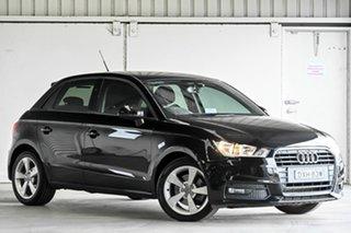 2018 Audi A1 8X MY18 Sportback S Tronic Black 7 Speed Sports Automatic Dual Clutch Hatchback.