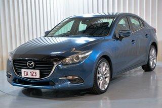 2017 Mazda 3 BN5438 SP25 SKYACTIV-Drive Blue 6 Speed Sports Automatic Hatchback.