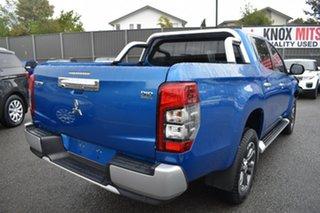 2019 Mitsubishi Triton MR MY19 GLS Double Cab Blue 6 Speed Manual Utility