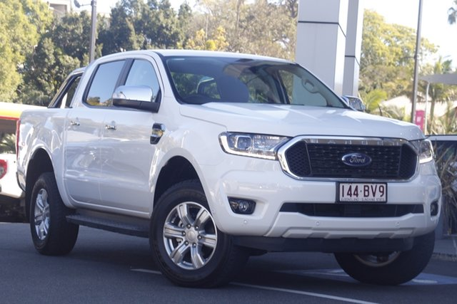 Demo Ford Ranger PX MkIII 2021.25MY XLT Hi-Rider Newstead, 2021 Ford Ranger PX MkIII 2021.25MY XLT Hi-Rider Arctic White 10 Speed Sports Automatic