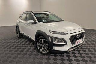 2020 Hyundai Kona OS.3 MY20 Highlander D-CT AWD White 7 speed Automatic Wagon.