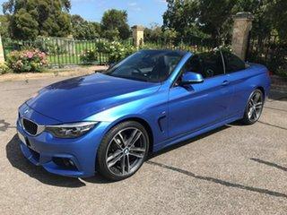 2017 BMW 4 Series F33 LCI 420i M Sport Blue 8 Speed Sports Automatic Convertible.