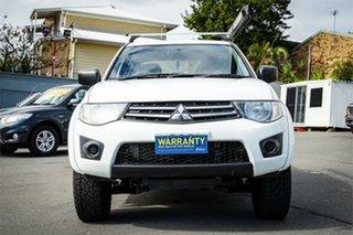 2014 Mitsubishi Triton MN GLX White 4 Speed Sports Automatic Utility.