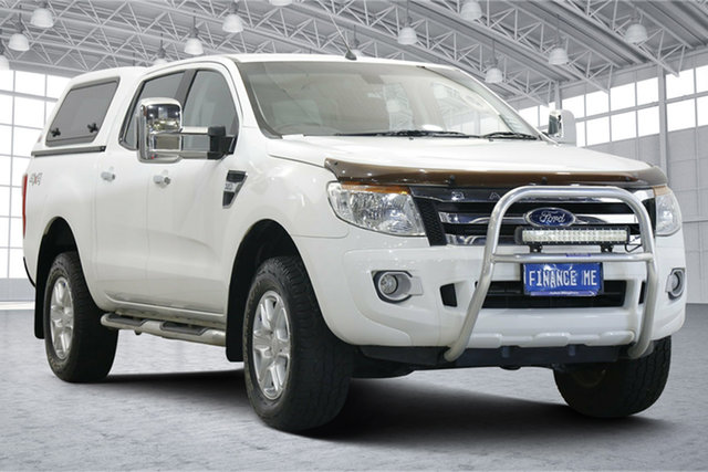Used Ford Ranger PX XLT Double Cab Victoria Park, 2013 Ford Ranger PX XLT Double Cab White 6 Speed Sports Automatic Utility