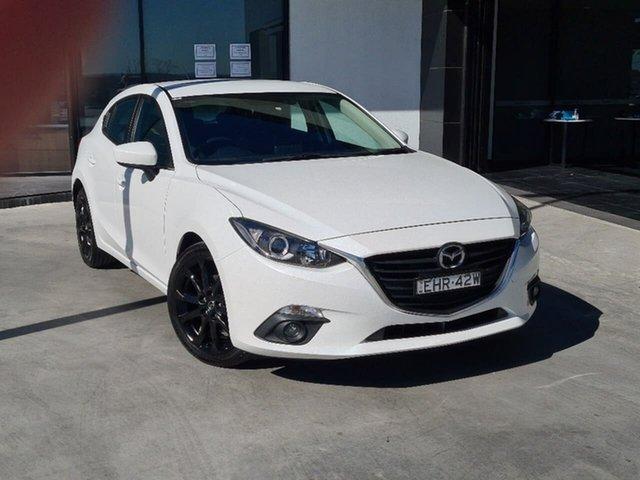 Used Mazda 3 BM5438 SP25 SKYACTIV-Drive Liverpool, 2015 Mazda 3 BM5438 SP25 SKYACTIV-Drive White 6 Speed Sports Automatic Hatchback