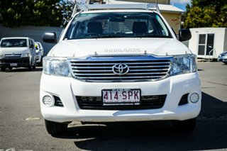2012 Toyota Hilux TGN16R MY12 Workmate 4x2 White 5 Speed Manual Cab Chassis.