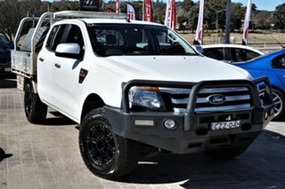 2015 Ford Ranger PX XLS Double Cab White 6 Speed Sports Automatic Utility.