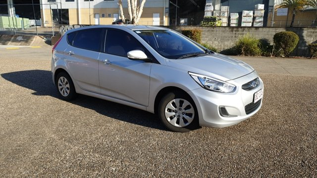 Used Hyundai Accent RB3 MY16 Active Underwood, 2015 Hyundai Accent RB3 MY16 Active Silver 6 Speed CVT Auto Sequential Hatchback