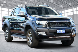 2018 Ford Ranger PX MkII 2018.00MY Wildtrak Double Cab Shadow Black 6 Speed Sports Automatic Utility.