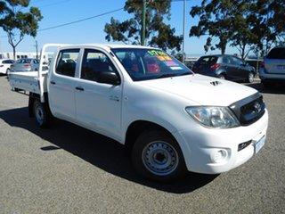 2011 Toyota Hilux KUN16R MY12 SR Double Cab 4x2 White 5 Speed Manual Utility.
