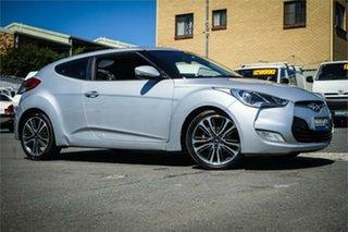 2012 Hyundai Veloster FS + Silver, Chrome 6 Speed Sports Automatic Dual Clutch Hatchback.