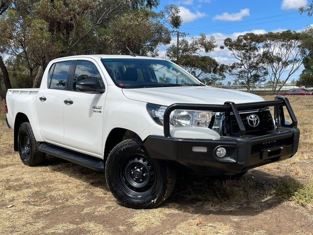 Used Toyota Hilux GUN126R SR Double Cab Clare, 2018 Toyota Hilux GUN126R SR Double Cab White 6 Speed Sports Automatic Utility