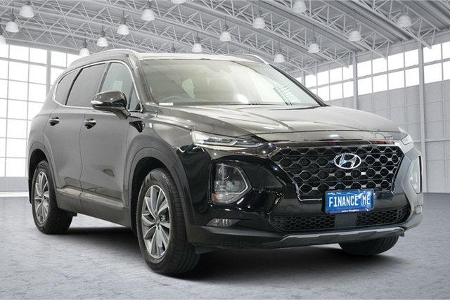 Used Hyundai Santa Fe TM MY19 Elite Victoria Park, 2018 Hyundai Santa Fe TM MY19 Elite Black 8 Speed Sports Automatic Wagon