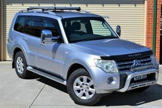 2010 Mitsubishi Pajero NT MY10 GLS Silver 5 Speed Sports Automatic Wagon.