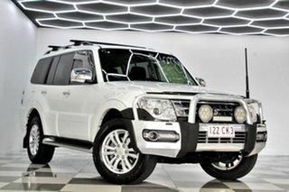 2016 Mitsubishi Pajero NX MY17 GLX LWB (4x4) White 5 Speed Auto Sports Mode Wagon.