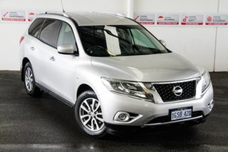 2015 Nissan Pathfinder R52 MY15 ST (4x4) Silver Continuous Variable Wagon.