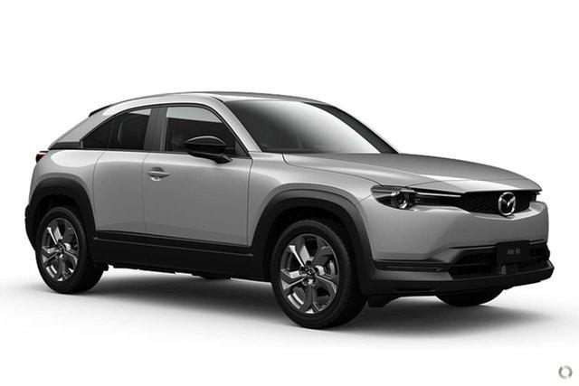Demo Mazda MX-30 DR2W7A G20e SKYACTIV-Drive Touring Waitara, 2021 Mazda MX-30 DR2W7A G20e SKYACTIV-Drive Touring White 6 Speed Sports Automatic Wagon