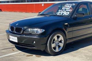 2003 BMW 318i E46 Black 5 Speed Auto Steptronic Sedan.