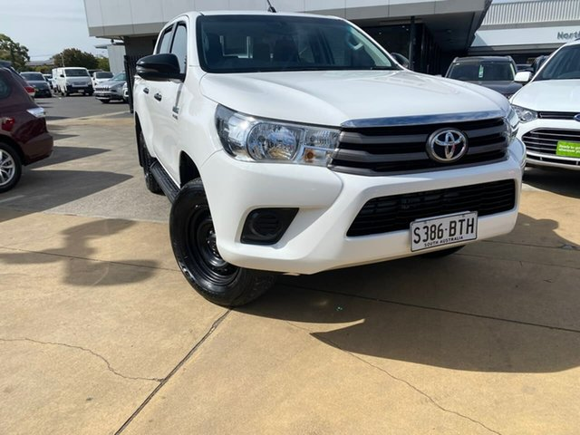 Used Toyota Hilux GUN126R SR Double Cab Hillcrest, 2017 Toyota Hilux GUN126R SR Double Cab White 6 Speed Sports Automatic Utility