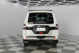 2016 Mitsubishi Pajero NX MY17 GLX LWB (4x4) White 5 Speed Auto Sports Mode Wagon