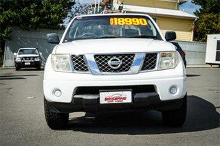 2010 Nissan Navara D40 RX White 6 Speed Manual Utility.